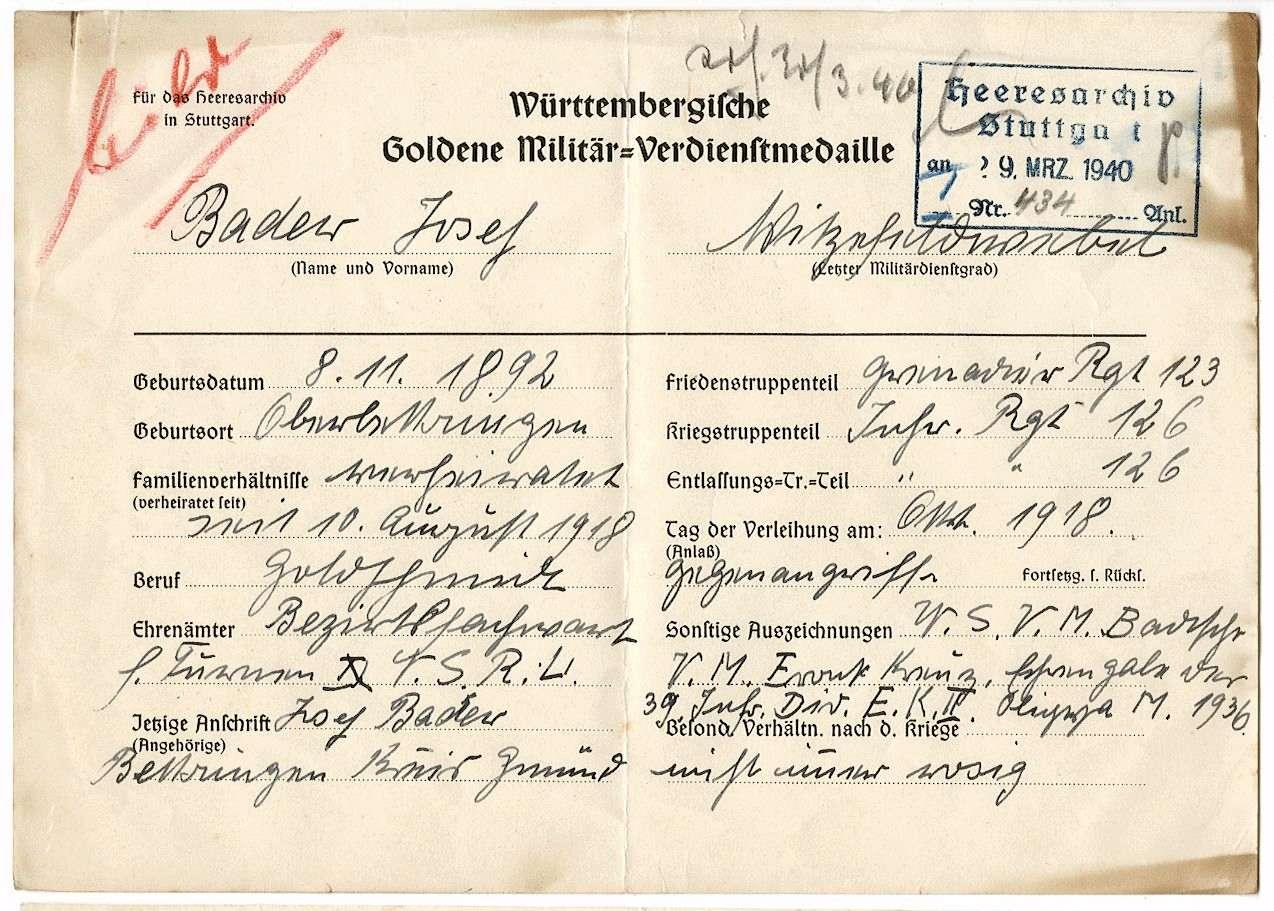 Bader, Josef, Bild 1