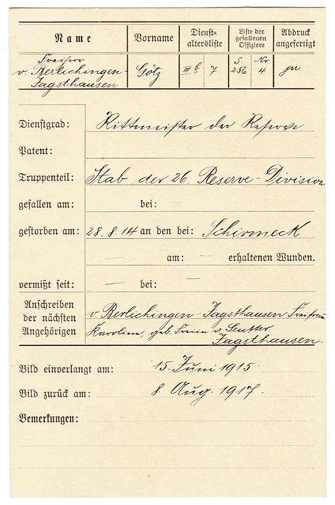 Berlichingen, Götz Freiherr von, Bild 2