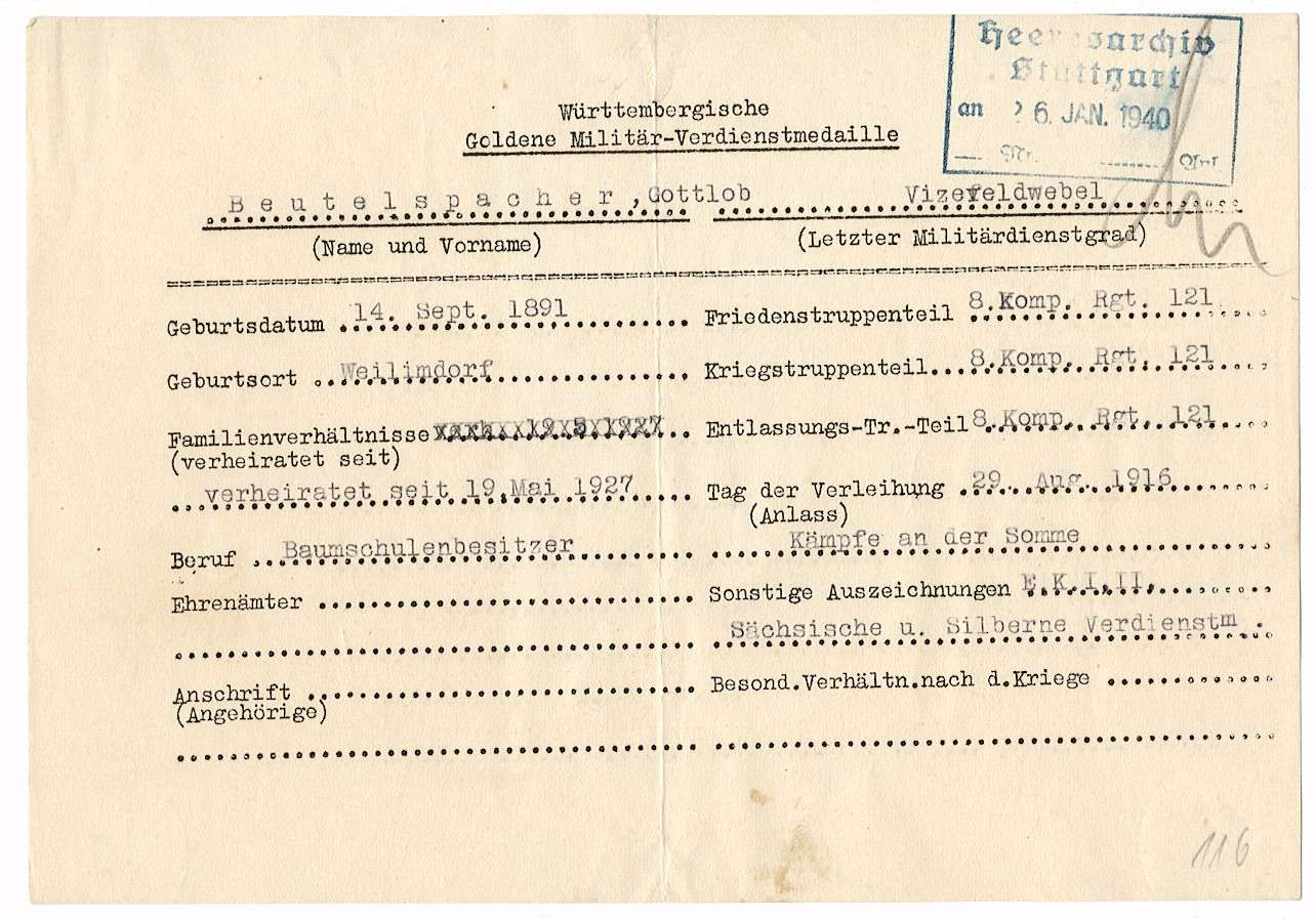 Beutelsbacher, Gottlob, Bild 2