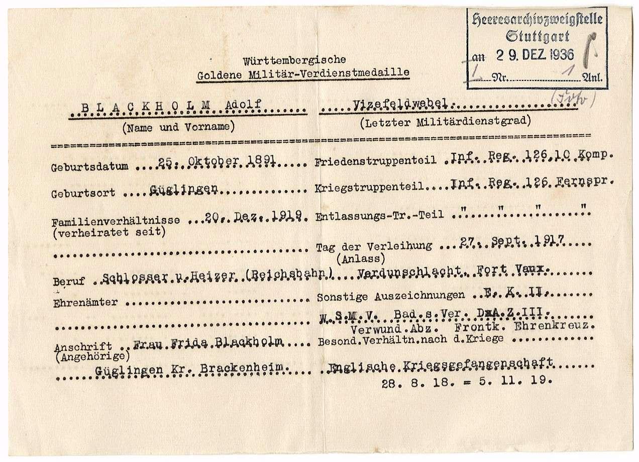 Blackholm, Adolf, Bild 2