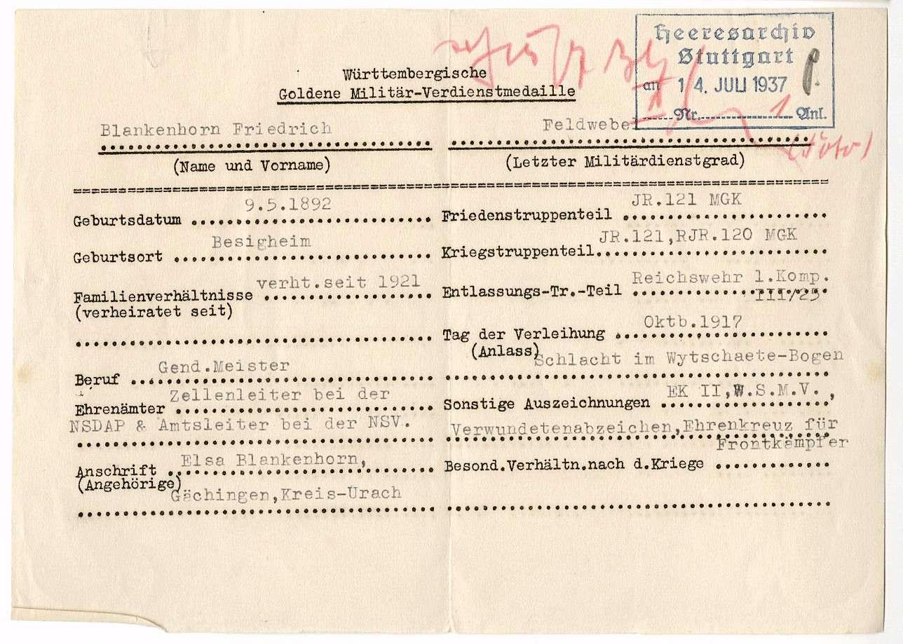 Blankenhorn, Friedrich, Bild 2