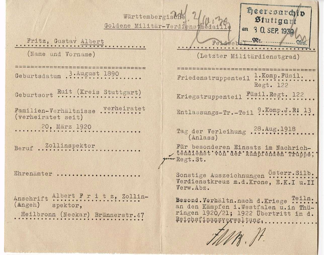 Fritz, Albert Gustav, Bild 3