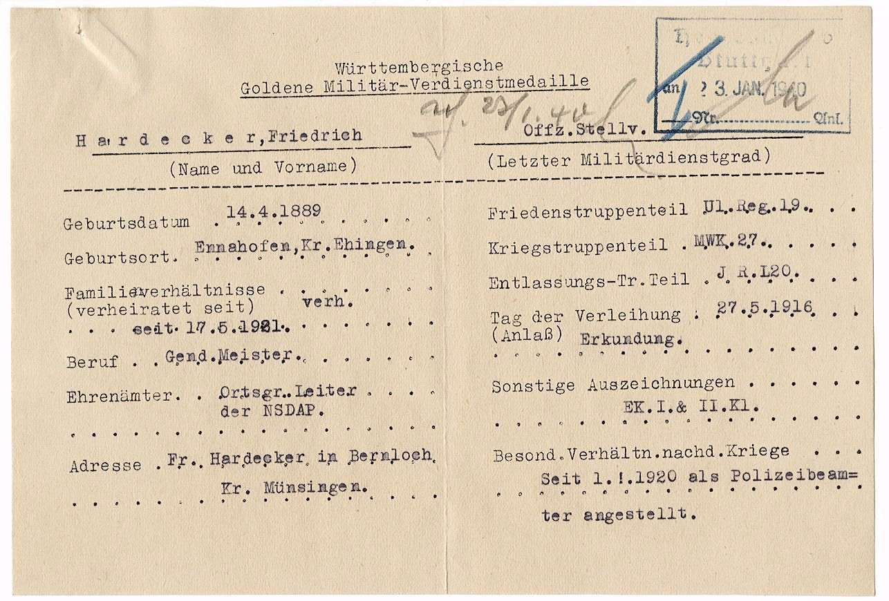 Hardecker, Friedrich, Bild 2