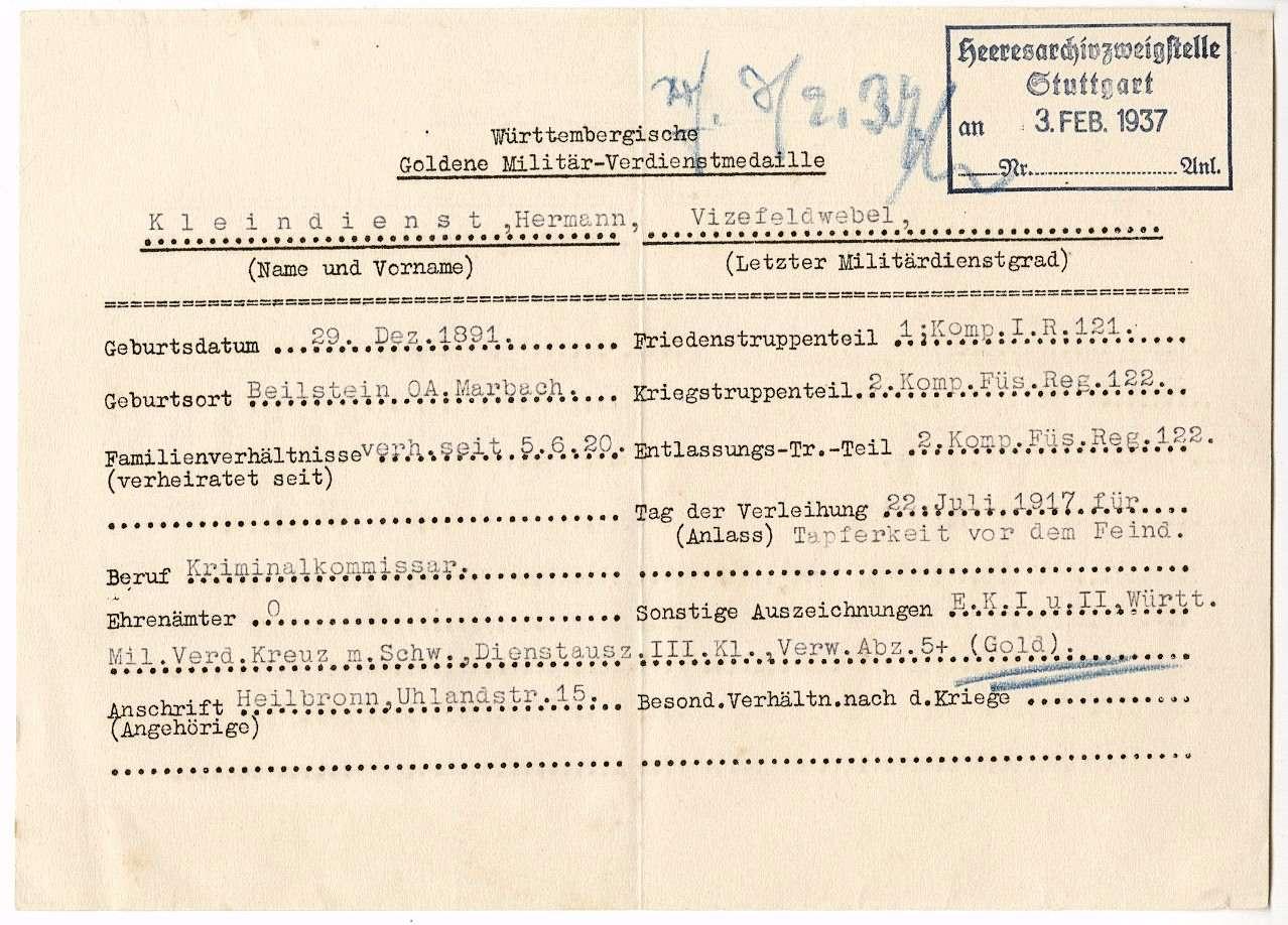 Kleindienst. Hermann, Bild 2