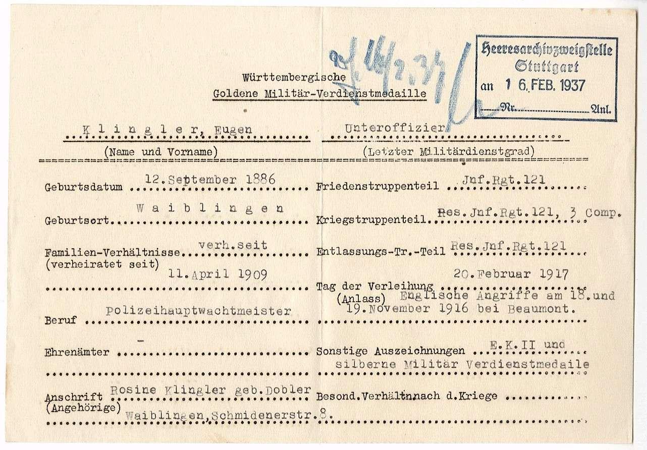Klingler, Eugen, Bild 3