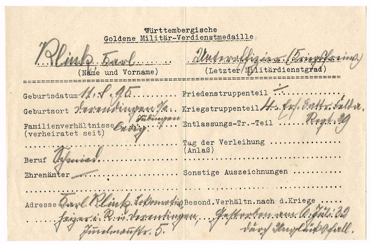 Klink, Karl, Bild 2