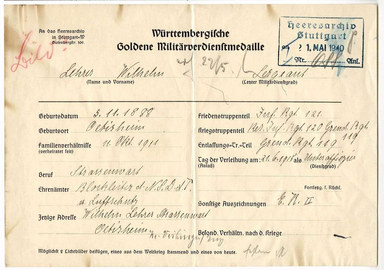 Lehrer, Wilhelm, Bild 1