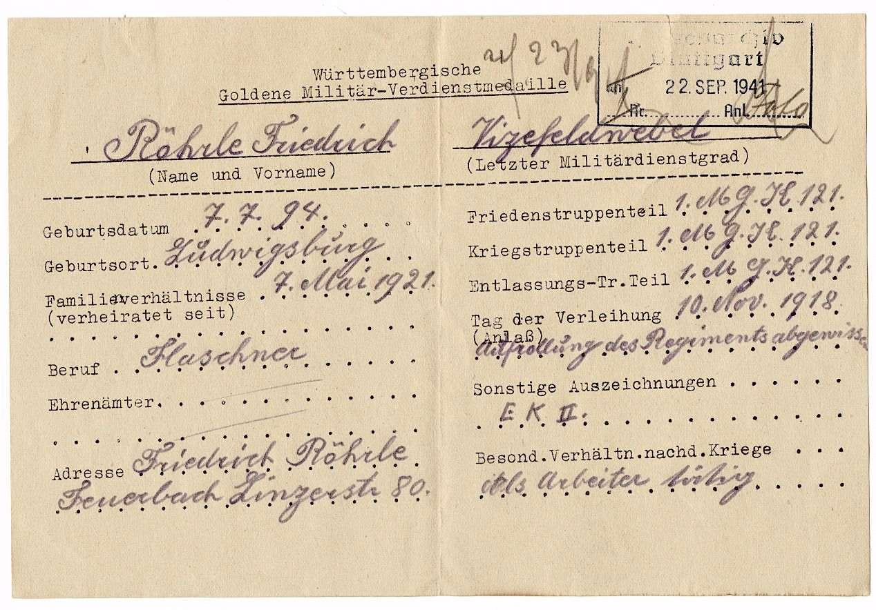 Röhrle, Friedrich, Bild 2