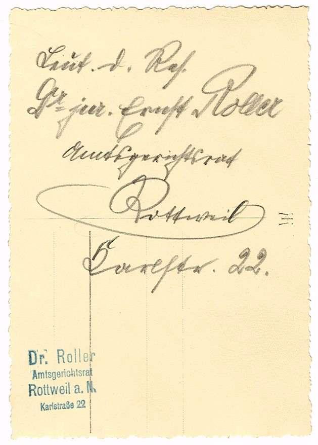 Roller, Ernst, Dr. jur., Bild 3