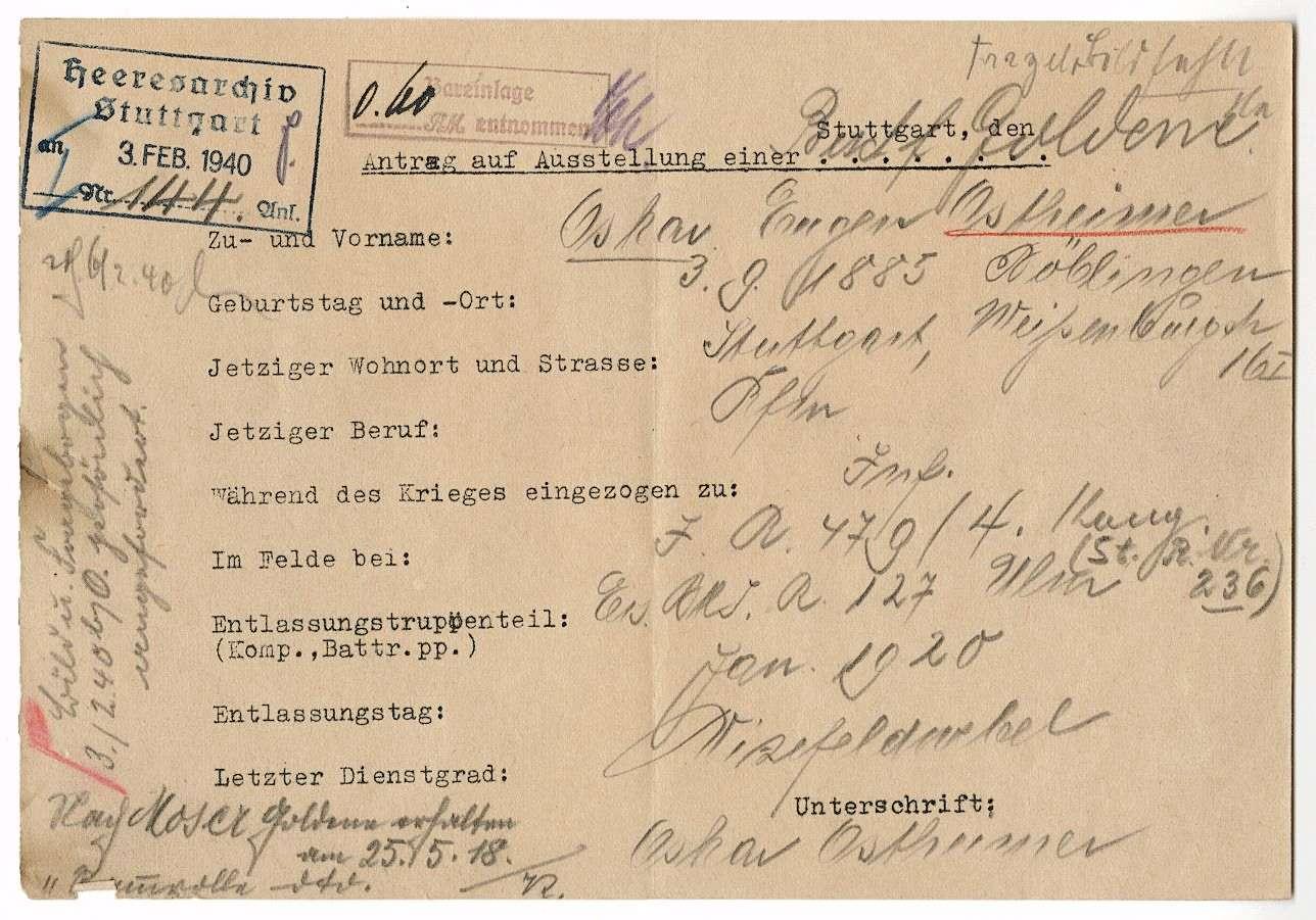 Ostheimer, Oskar, Bild 1
