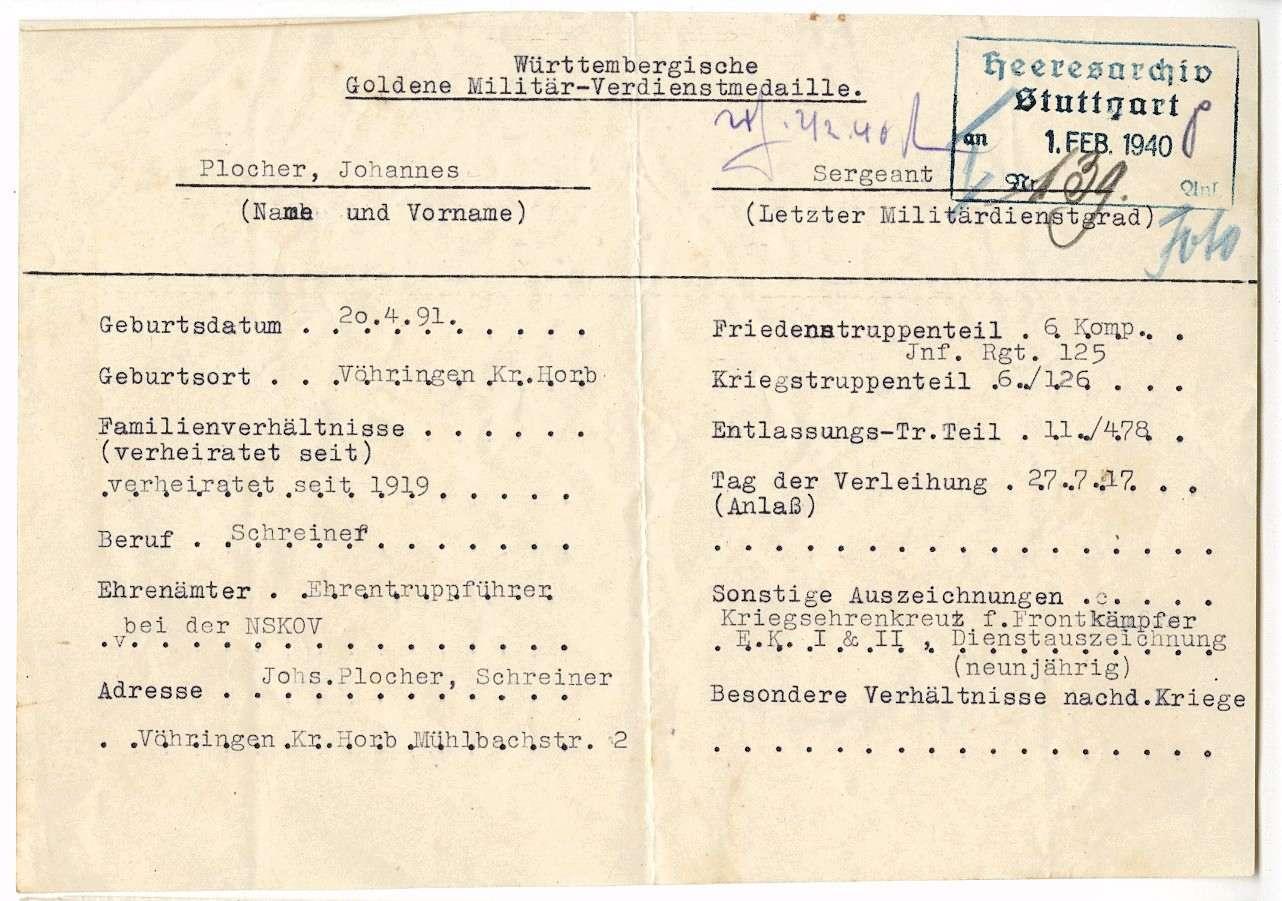 Plocher, Johannes, Bild 2