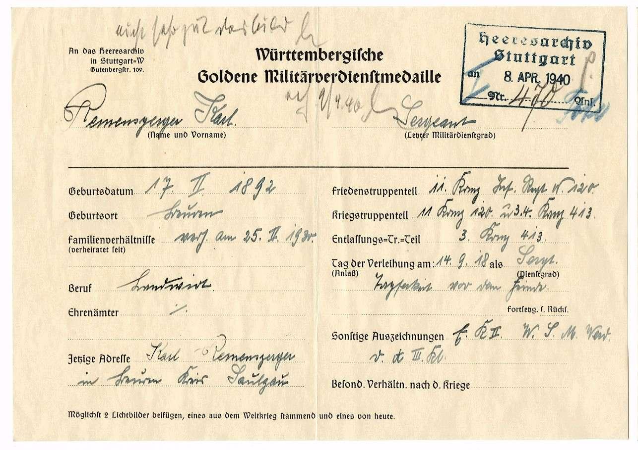 Remensperger, Karl, Bild 2