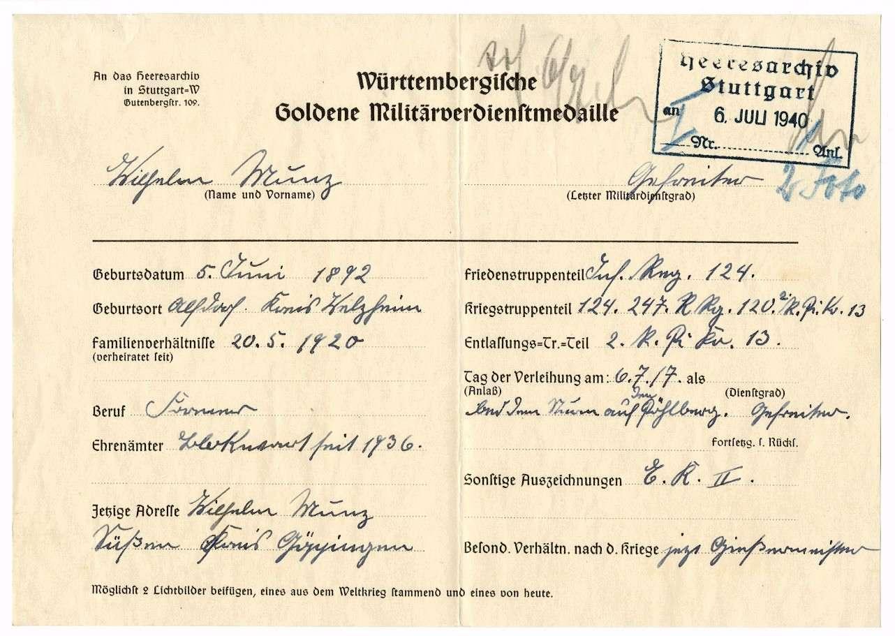 Munz, Wilhelm, Bild 3