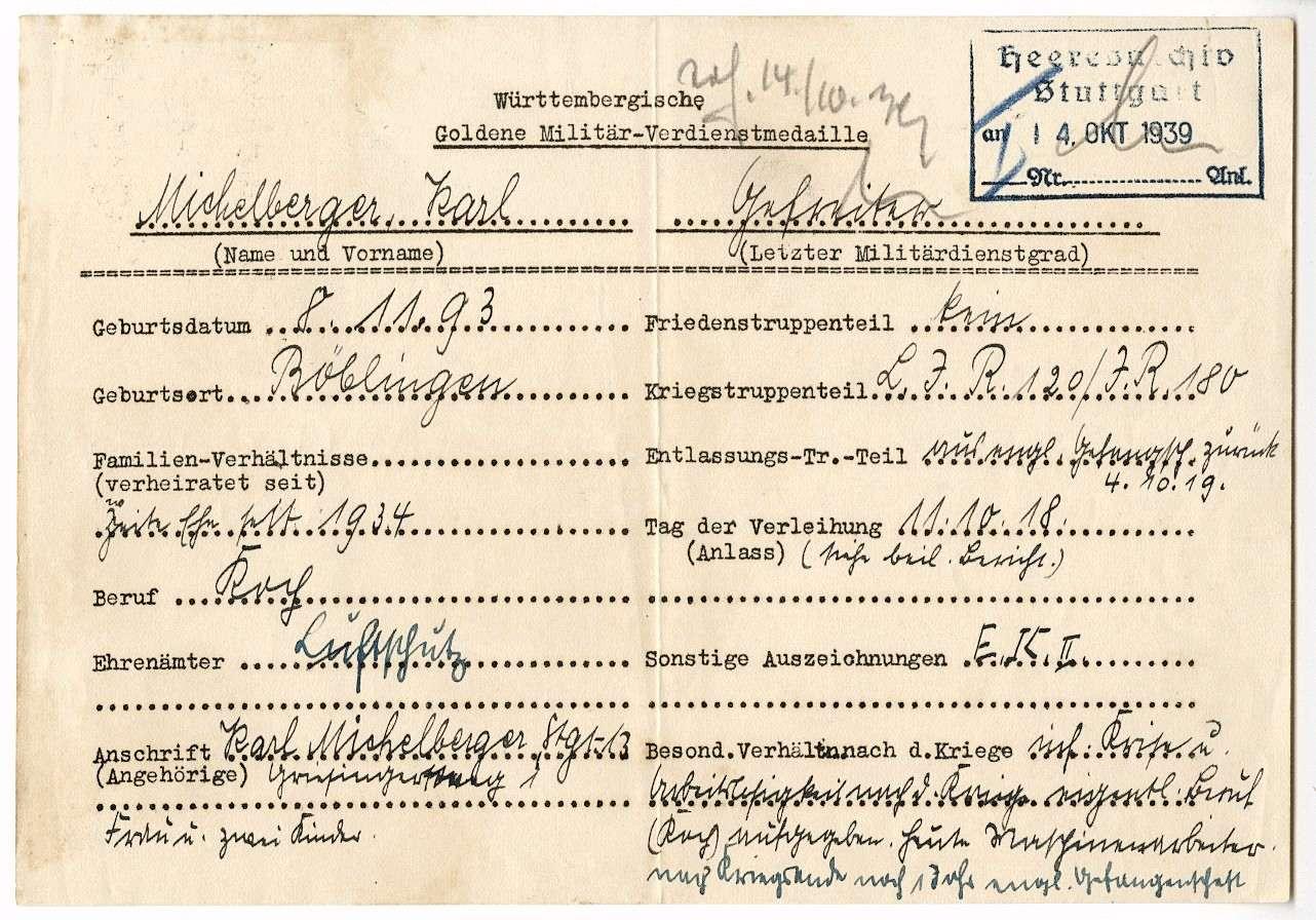 Michelberger, Karl, Bild 2