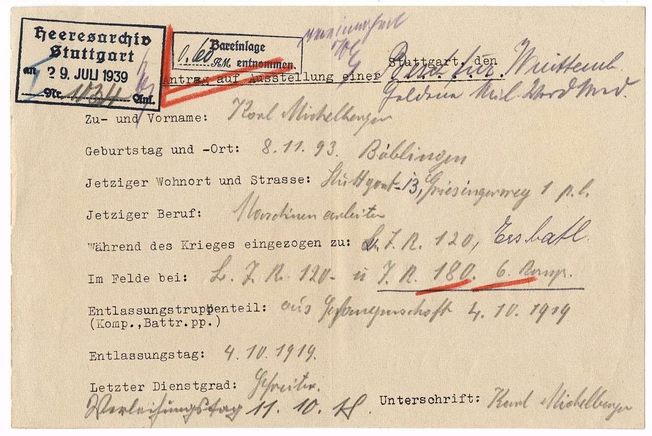 Michelberger, Karl, Bild 3