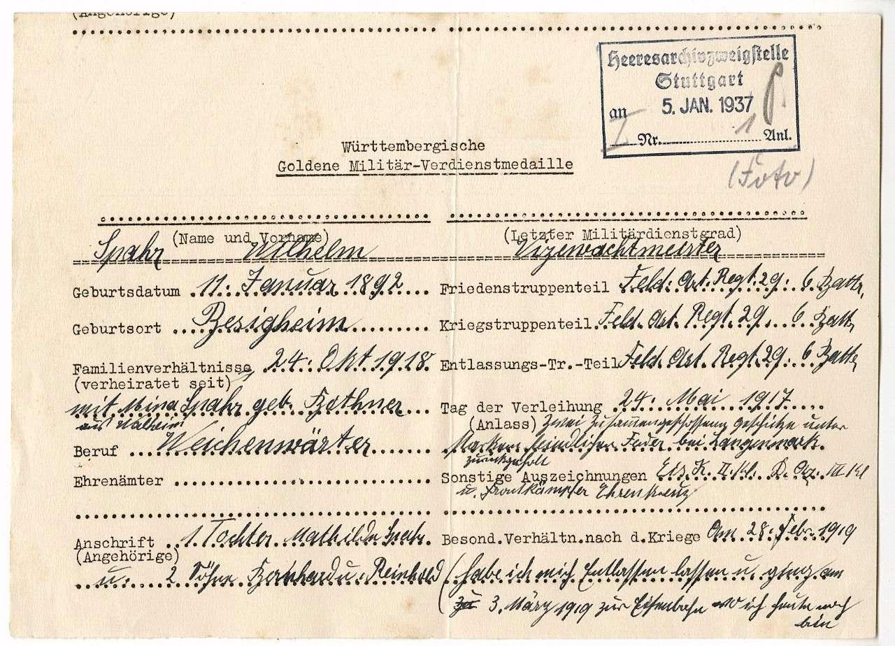 Spahr, Wilhelm, Bild 2