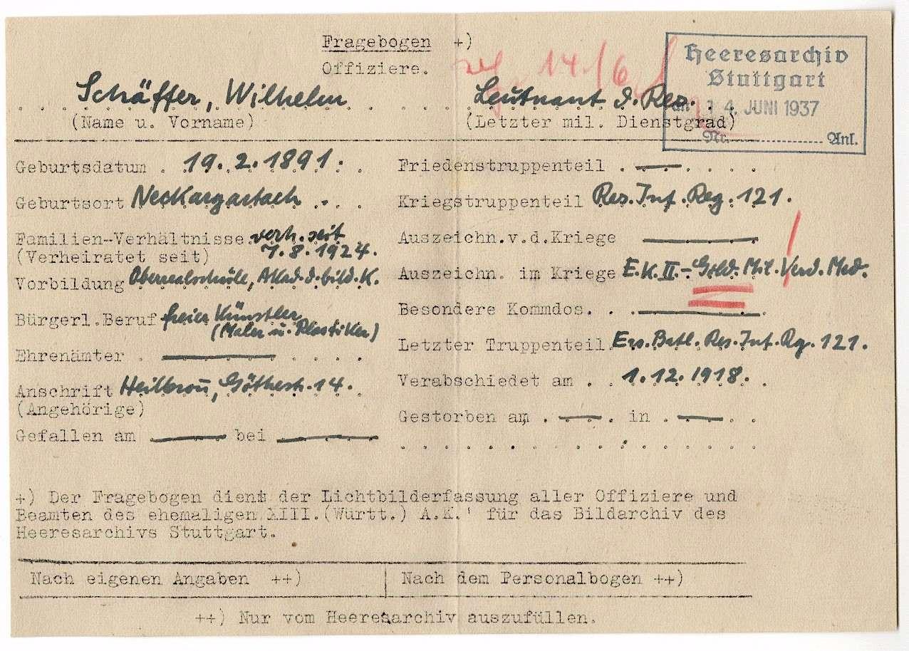 Schäffer, Wilhelm, Bild 3