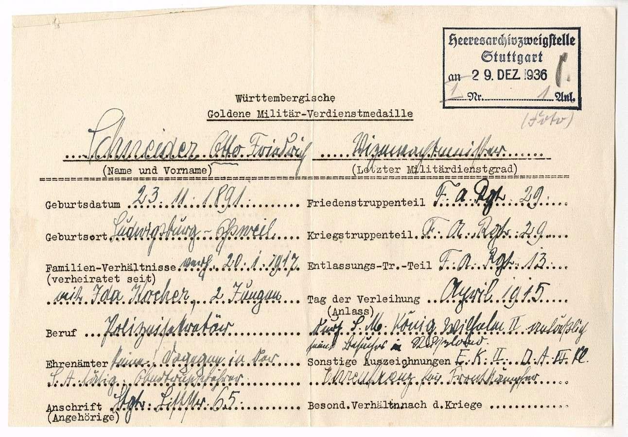 Schneider, Otto Friedrich, Bild 2