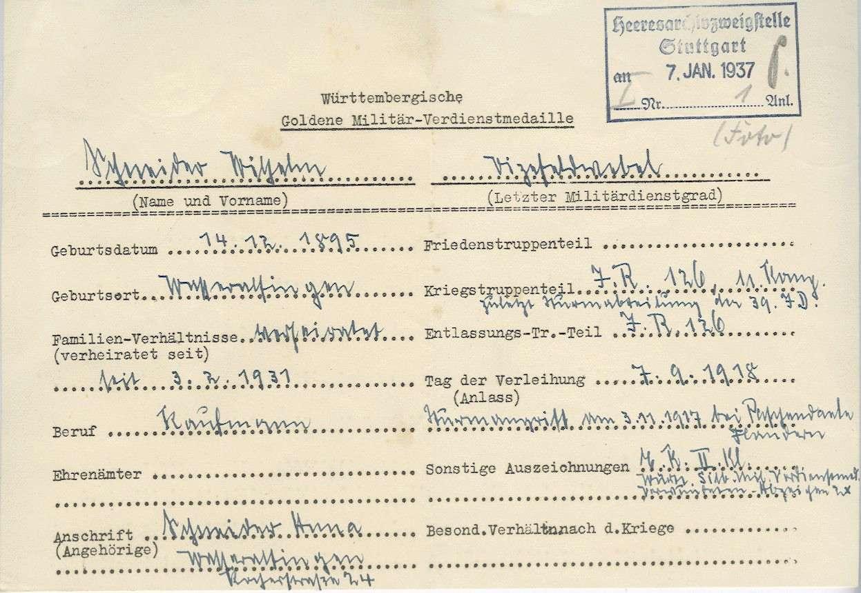 Schneider, Wilhelm, Bild 2