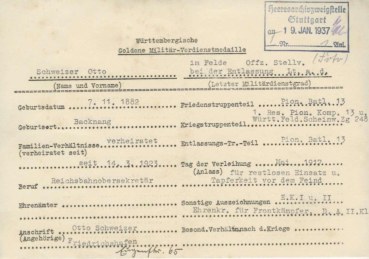 Schweizer, Otto, Bild 2