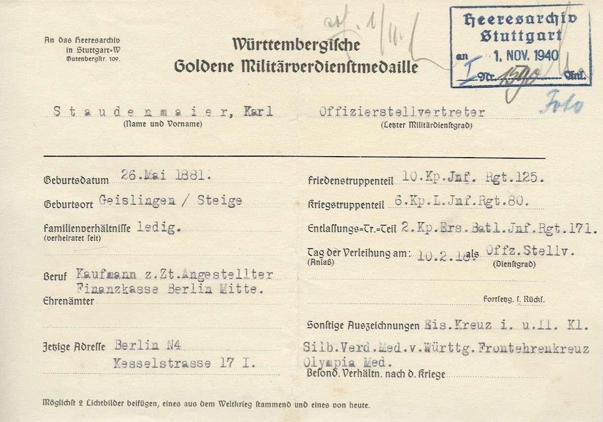 Staudenmaier, Karl, Bild 2