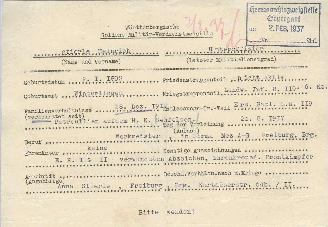 Stierle, Heinrich, Bild 2