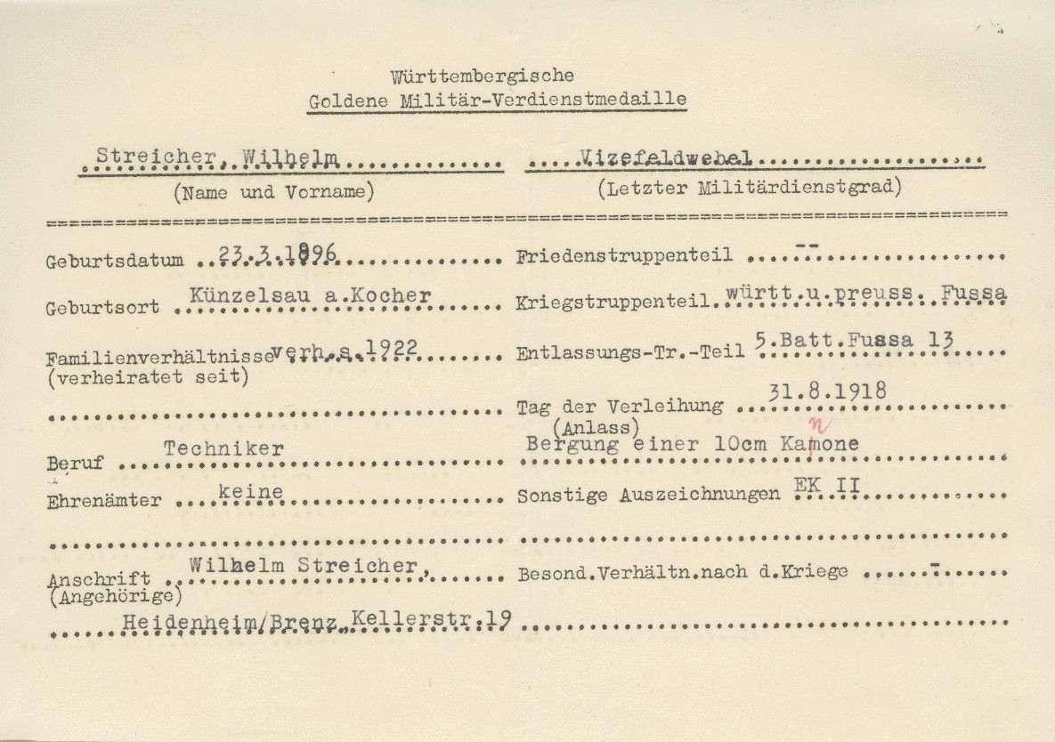 Streicher, Wilhelm, Bild 2
