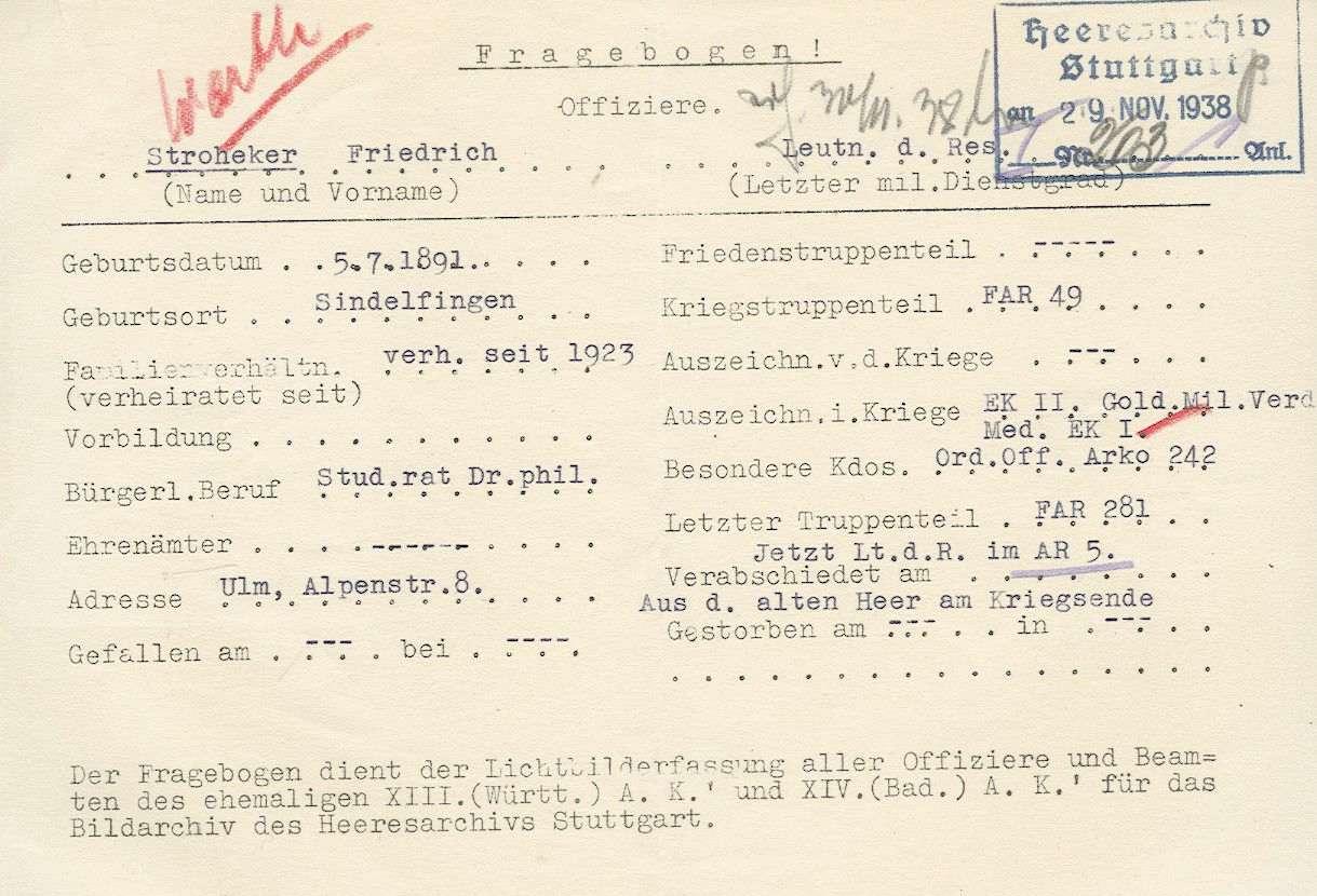 Stroheker, Friedrich, Dr. phil., Bild 2