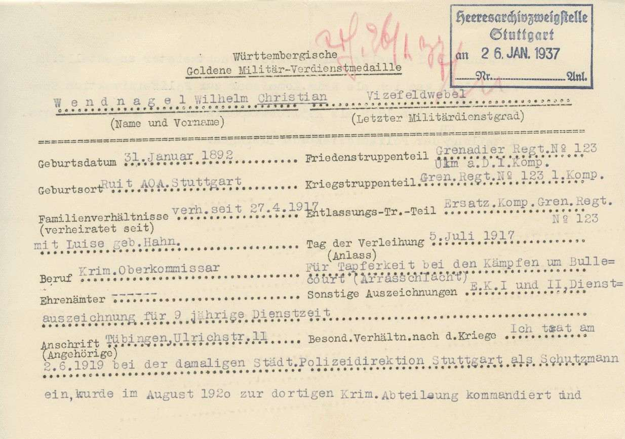 Wendnagel, Wilhelm Christian, Bild 2