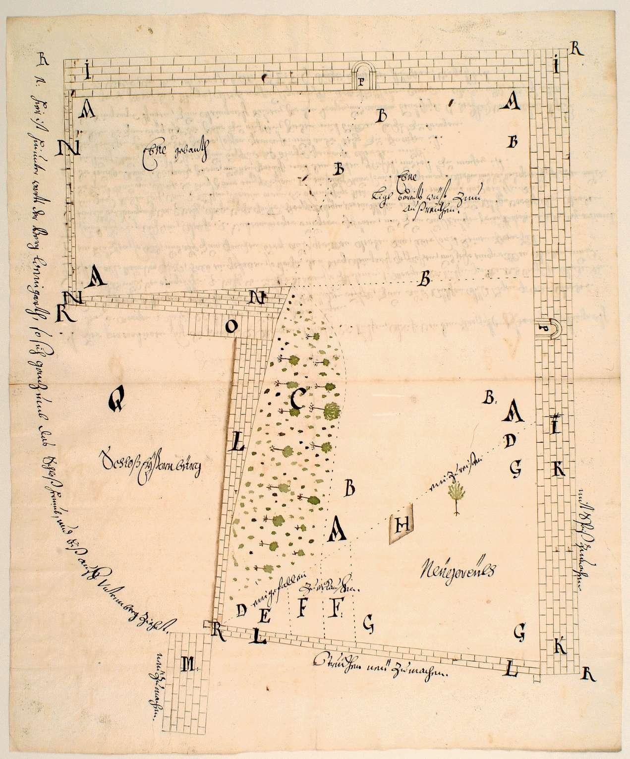 [Plan des Weingartens bei der Eisenburg in Großsachsenheim], Bild 1