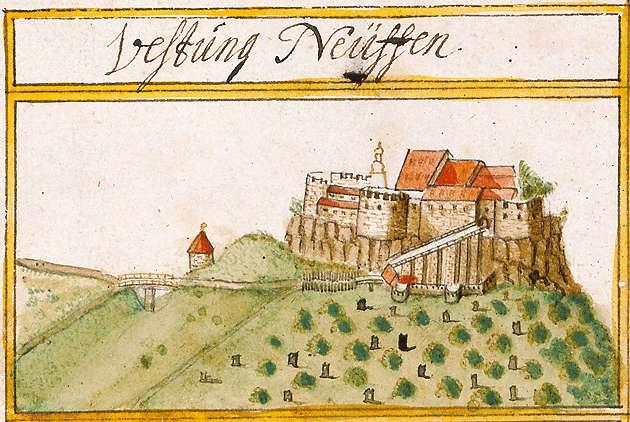 Hohenneuffen, abgeg. Burg bei Neuffen, Neuffen ES, Bild 1