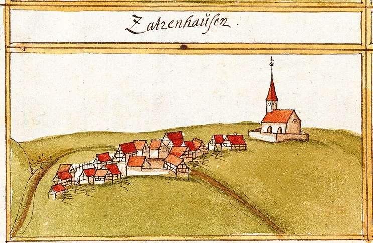 Zazenhausen : Zuffenhausen, Stkr. Stuttgart, Bild 1