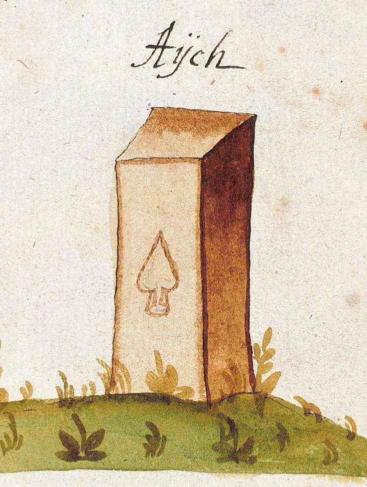 Aich, Aichtal ES (Tübinger Forst, Marksteinzeichen I), Bild 1