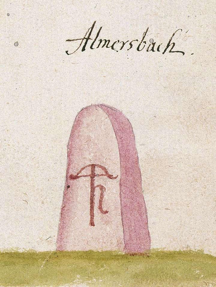 Allmersbach im Tal WN (Reichenberger Forst, Marksteinzeichen I), Bild 1