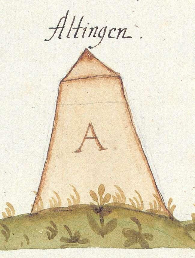 Altingen, Ammerbuch TÜ (Tübinger Forst, Marksteinzeichen II), Bild 1