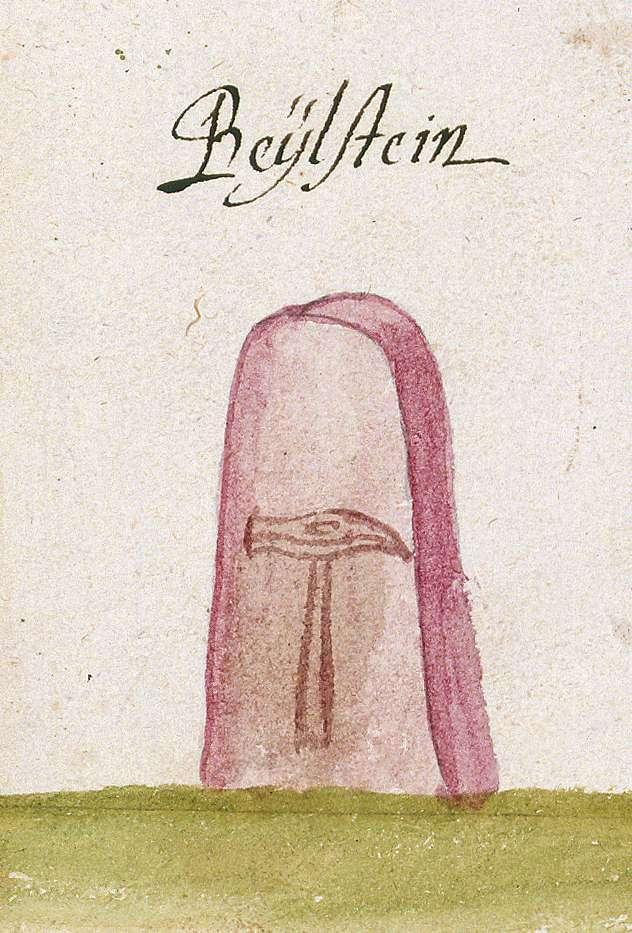 Beilstein HN (Reichenberger Forst, Marksteinzeichen I), Bild 1