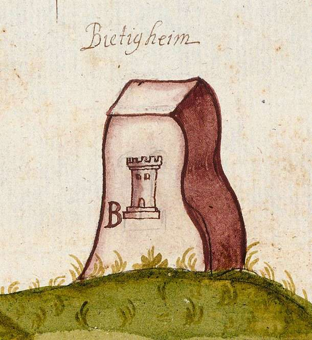 Bietigheim, Bietigheim-Bissingen LB (Leonberger Forst, Marksteinzeichen II), Bild 1