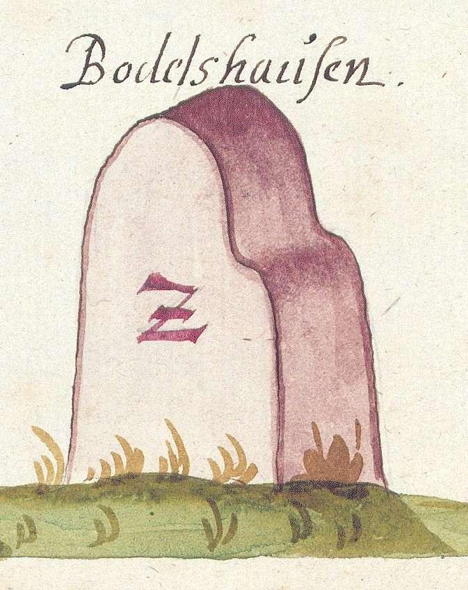 Bodelshausen TÜ (Tübinger Forst, Marksteinzeichen II), Bild 1