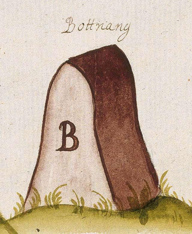 Botnang, Stkr. Stuttgart (Leonberger Forst, Marksteinzeichen III), Bild 1