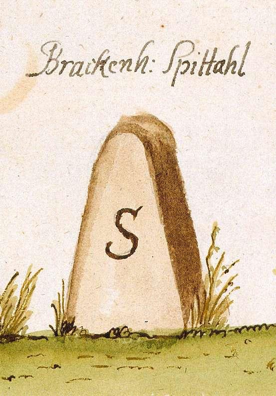 Brackenheim HN, Spital (Stromberger Forst, Marksteinzeichen I), Bild 1