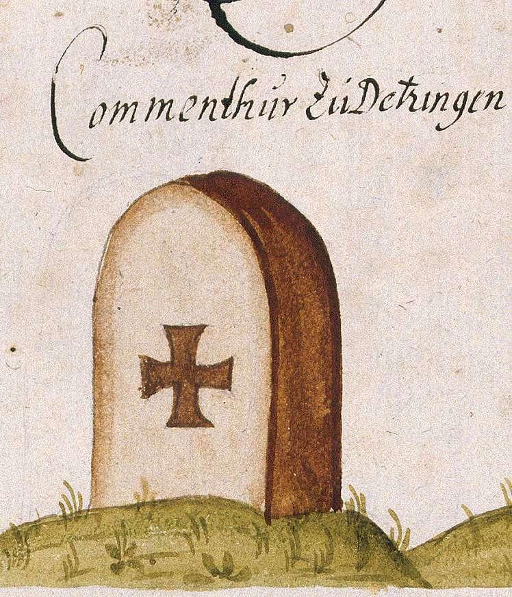 Dätzingen, Grafenau BB, Johanniter-Kommende (Böblinger Forst, Marksteinzeichen III), Bild 1