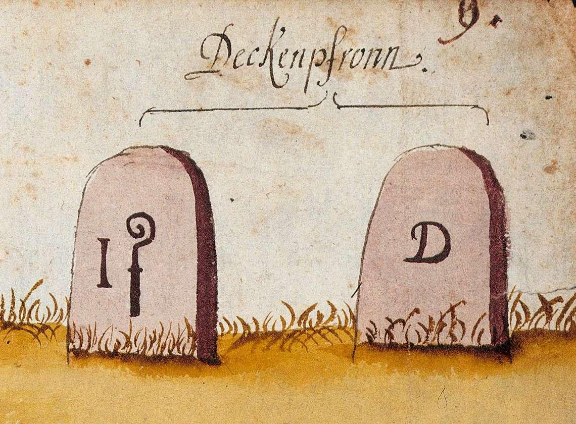 Deckenpfronn BB (Böblinger Forst, Marksteinzeichen II), Bild 1