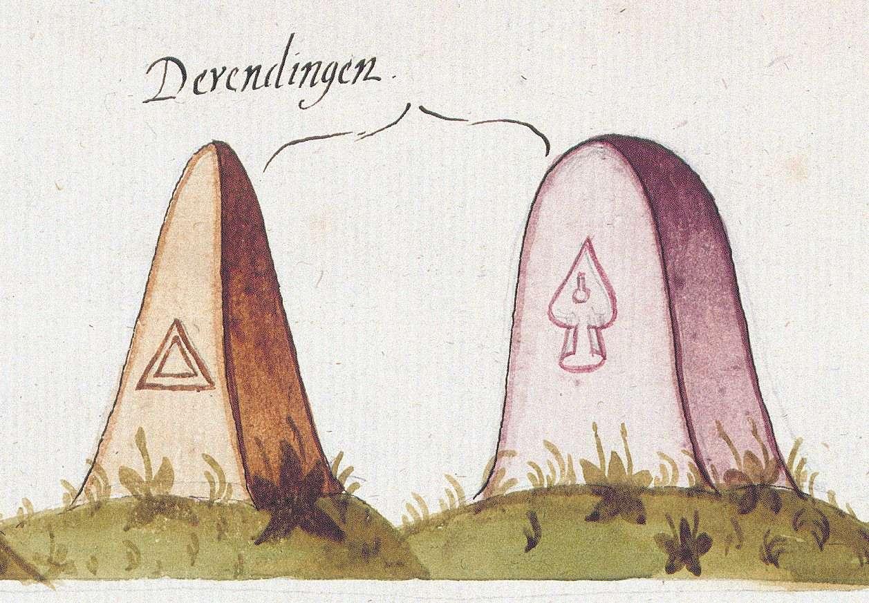 Derendingen, Tübingen TÜ (Tübinger Forst, Marksteinzeichen III), Bild 1