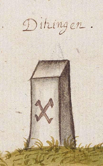 Ditzingen LB (Leonberger Forst, Marksteinzeichen I), Bild 1