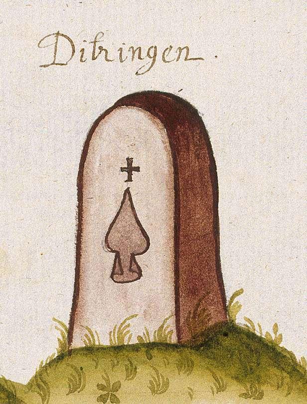 Ditzingen LB (Leonberger Forst, Marksteinzeichen III), Bild 1
