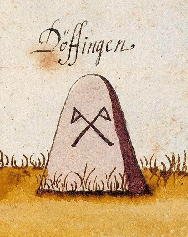 Döffingen, Grafenau BB (Böblinger Forst, Marksteinzeichen II), Bild 1
