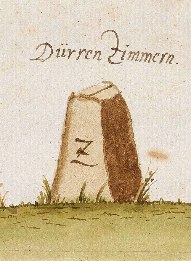 Dürrenzimmern, Brackenheim HN (Stromberger Forst, Marksteinzeichen II), Bild 1
