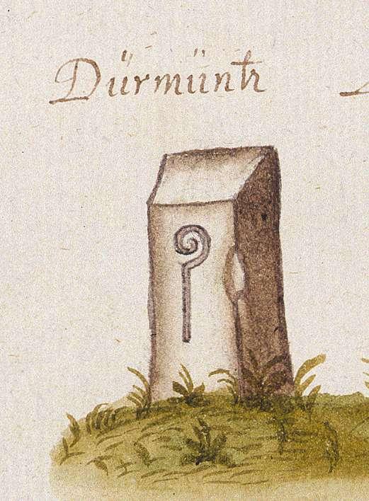 Dürrmenz : Stadt Mühlacker, PF (Leonberger Forst, Marksteinzeichen I), Bild 1