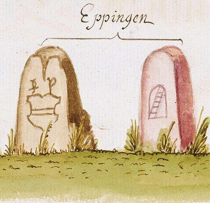 Eppingen HN (Stromberger Forst, Marksteinzeichen IV), Bild 1