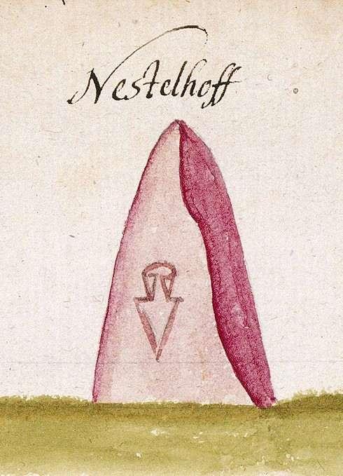 Eschelhof, Sulzbach an der Murr WN (Reichenberger Forst, Marksteinzeichen II), Bild 1